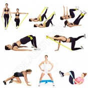 Набор для фитнеса HVAT Латексная лента