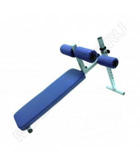 Скамья универсальная регулируемая Spektr Sport Rk-027 сине-серая