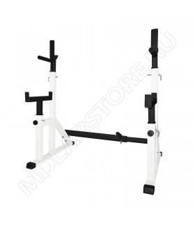 Стойка телескопическая MDL для приседаний и жима с подстраховкой белая