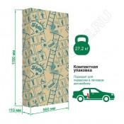 Деревянная шведская стенка ROMANA Eco2 (натур/белый) пристенная