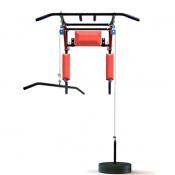 Турник брусья пресс 3 в 1 Spektr Sport настенный разборный складной серый + вертикальная тяга Perfect Ultra