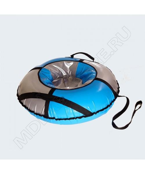 Тюбинг (санки ватрушка) Classic Mega 120 серо-голубой