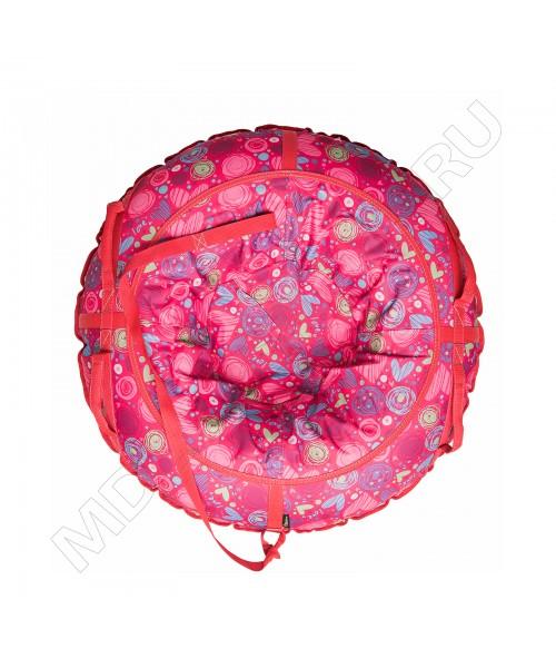 Тюбинг (санки ватрушка) Glamour 100 сердечки на красном