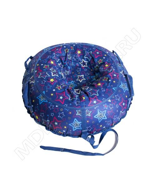 Тюбинг (санки ватрушка) Glamour 100 звезды на синем
