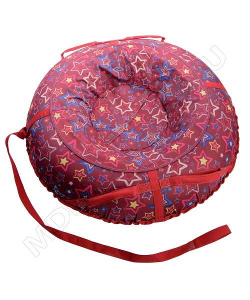 Тюбинг (санки ватрушка) Glamour 120 красные звездочки