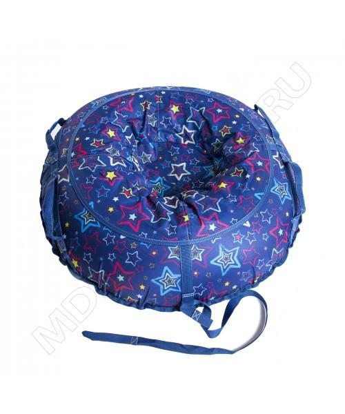 Тюбинг (санки ватрушка) Glamour 120 звезды на синем