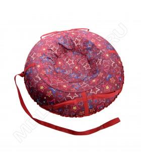 Тюбинг (санки ватрушка) Glamour 80 красные звездочки