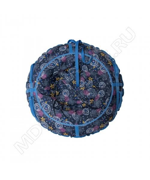 Тюбинг (санки ватрушка) Glamour 80 одуванчика на синем