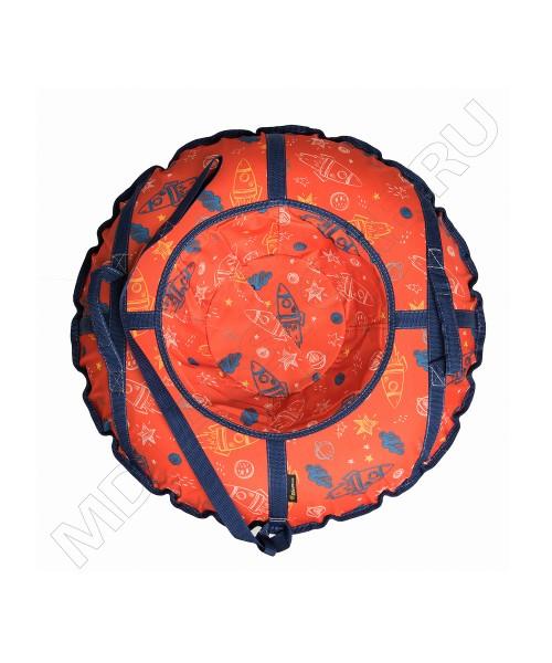 Тюбинг (санки ватрушка) Glamour 80 оранжевые ракеты