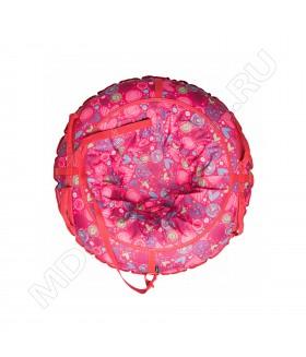 Тюбинг (санки ватрушка) Glamour 80 сердечки на красном
