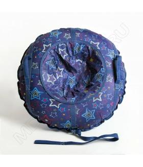 Тюбинг (санки ватрушка) Glamour 80 звезды на синем