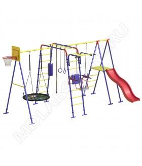 Уличный детский спортивный комплекс MDL Семейный Плюс с двумя качелями