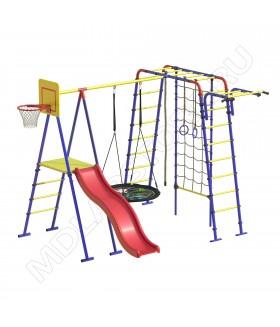 Уличный детский спортивный комплекс MDL Семейный с сеткой для лазания