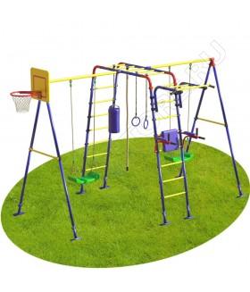 Уличный детский спортивный комплекс MDL Юниор Плюс с двумя качелями (пластиковые качели)