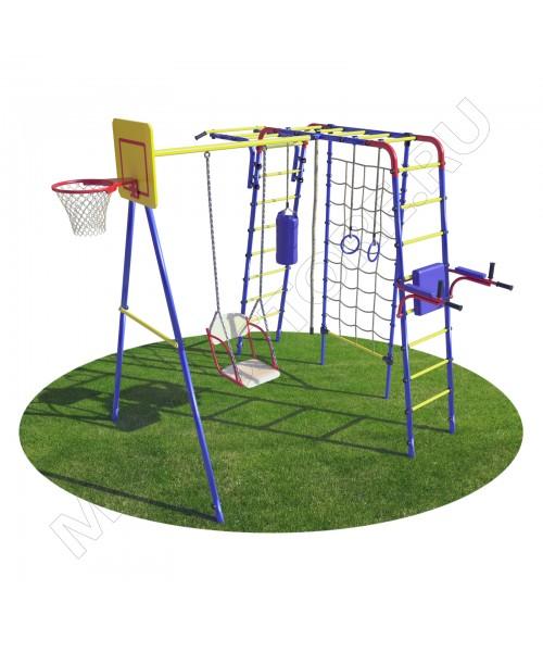 Уличный детский спортивный комплекс MDL Юниор Плюс с сеткой для лазания